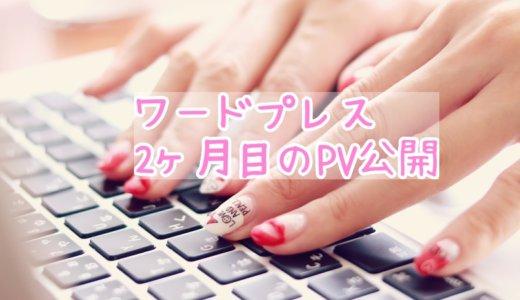 ワードプレスでブログ運営、2ヶ月が経過!PV公開☆
